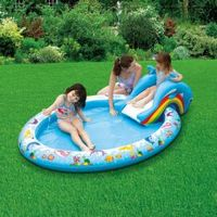 Надувной бассейн с горкой, Summer Escapes