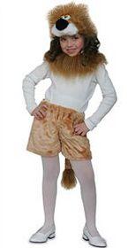 Карнавальный костюм ЛЬВЕНОК, 3-5 лет, рост 98-136 см, Ростойс