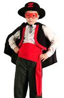 Карнавальный костюм ЗОРРО, 5-7 лет, Бока