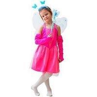 Карнавальный костюм СКАЗОЧНАЯ ФЕЯ в розовом, 5-7 лет, Бока