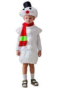 Карнавальный костюм СНЕГОВИК малый, 3-5 лет, Бока