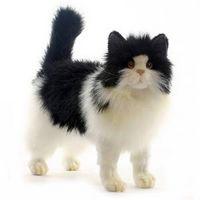 Мягкая игрушка Кошка черно-белая 40 см, HANSA