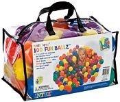 Набор из 100 разноцветных пластиковых шаров в мешке для переноски, INTEX
