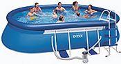 Бассейн Oval Frame Pool, 549х305х107см + фильтр-насос + аксессуары
