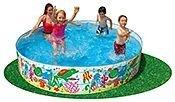 Жесткий бассейн Веселые Рыбки, 244х46 см, от 3 лет