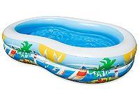 Надувной бассейн Райская Лагуна INTEX, 262х160х46 см, от 6 лет