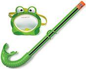 Детский набор для плавания INTEX (маска с трубкой) Лягушонок, от 3 до 8 лет