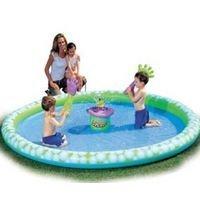 Надувной игровой центр-бассейн ЛАДОШКИ с генератором мыльных пузырей, 183 х 28 см., BestWay