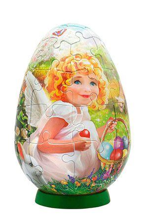 Мозаика puzzle Пасхальное яйцо (пазл-шар) 40 эл. в ассортименте, Step Puzzle