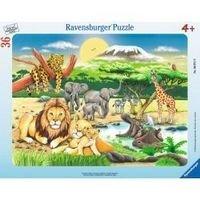 Настольная игра Животный мир Африки, Пазл 36 деталей