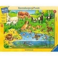Пазл Животные и их детеныши 40 шт., Ravensburger