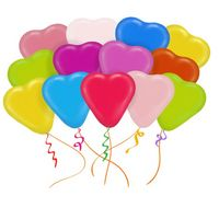 Облако из 25 латексных шаров Сердца ассорти